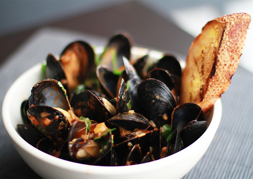 Every Monday, Join Us for $12 Plates Mussels featuring Chef's Weekly Mussel Special ALL DAY!