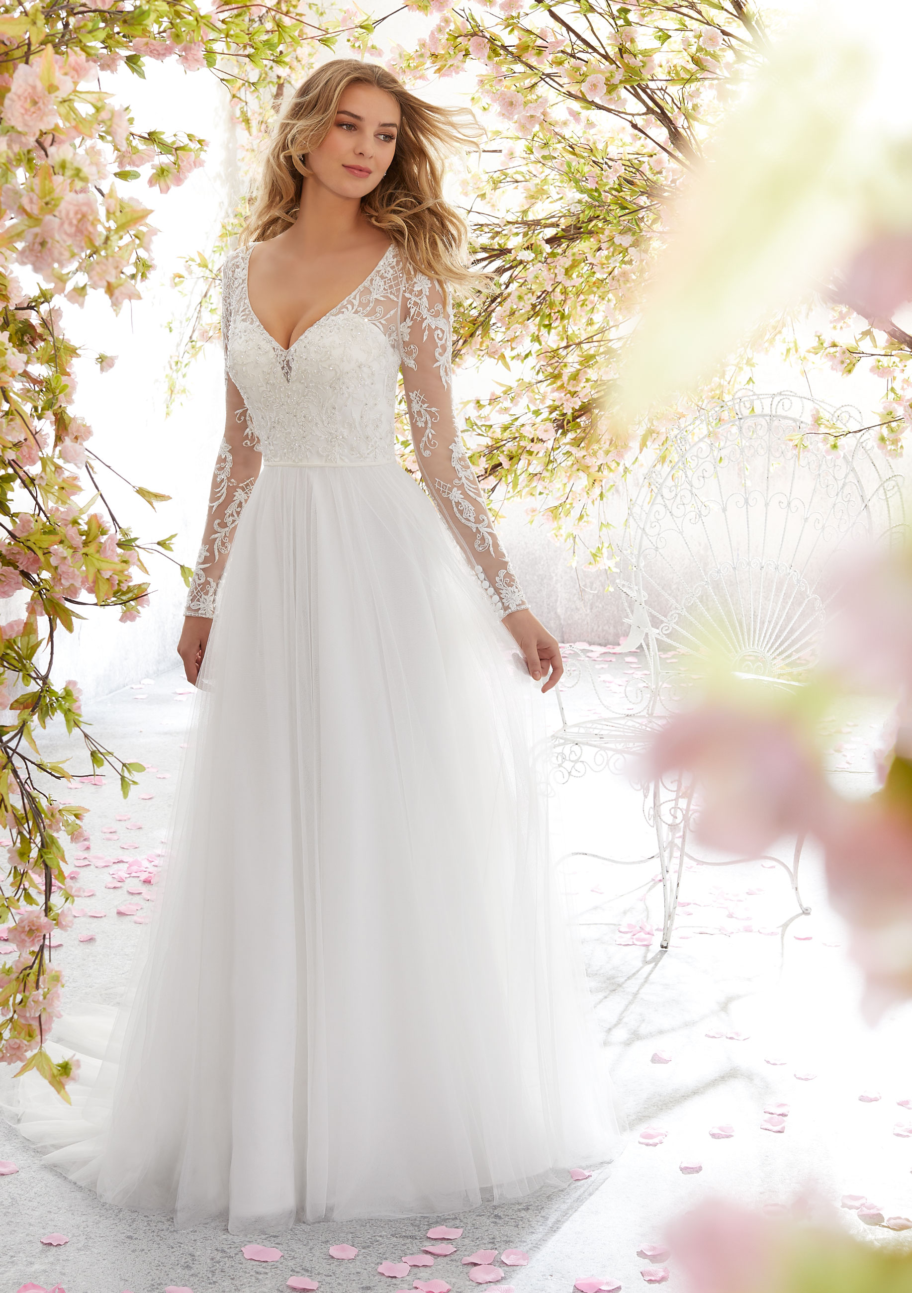 Our Favorite Fall Wedding Dress Trends \u2014 Always and Forever