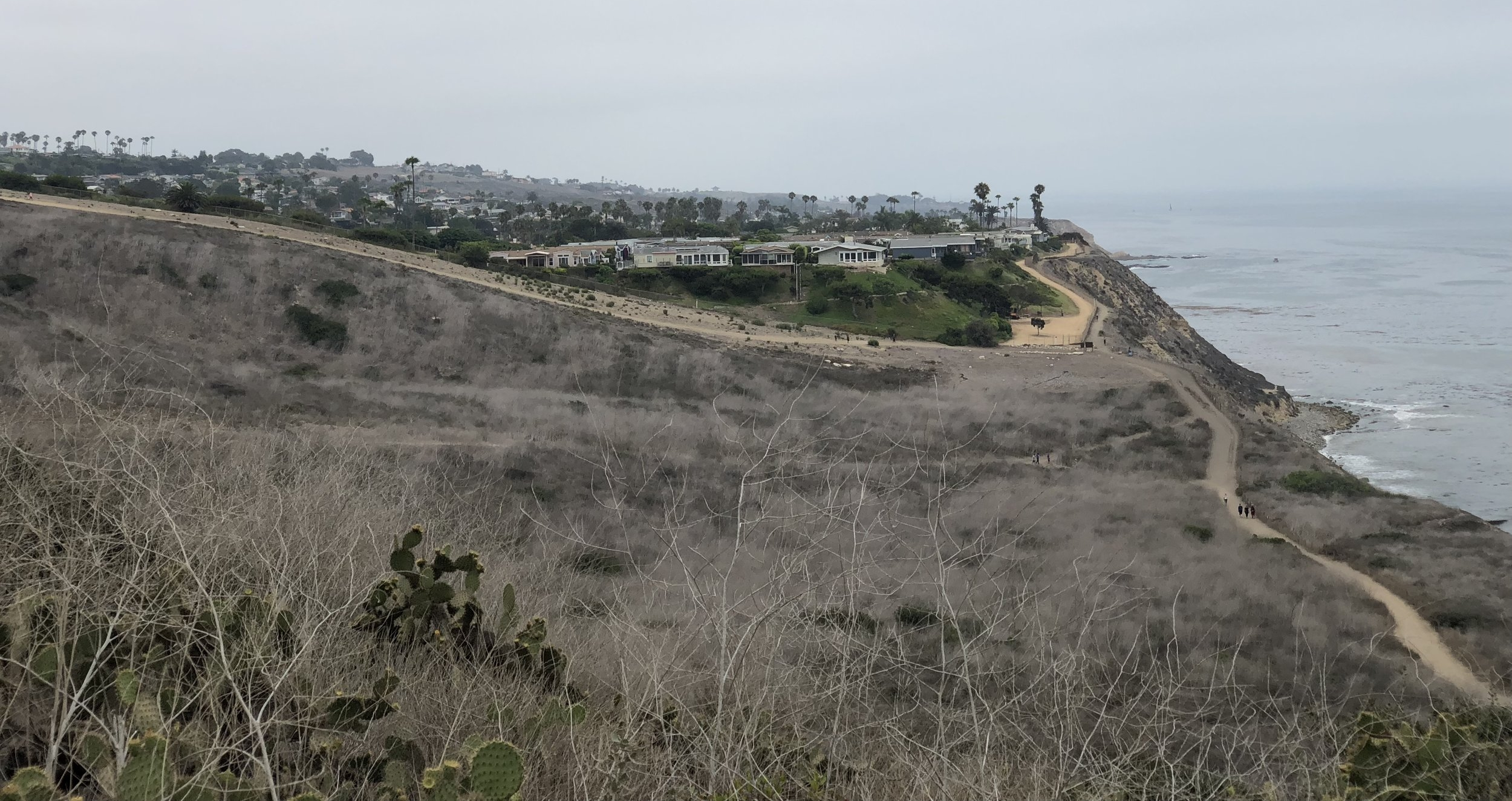 The view over Shoreline Park Trail and San Pedro and Rancho Palos Verdes, California.