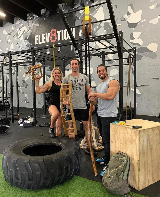 """What an amazing addition to @elev8tionfitness 🌴 Can't thank @tulumjunglegym enough for bringing their incredible """"natural"""" exercise experience to us! We appreciate you guys 🙏🏼 . #aedistrictmiami #wynwood #brickell #southbeach #miamibeach #downtownmiami #fitnessandhealth #fitness #muscleandfitness #motivation #inspiration #goals #success #miami #nike #adidas #bodybuilding #classicphysique #getshitdone #powerlifting #boxing #classicphysique #life #quotes #elev8tionfitness #HIIT #Tulum"""