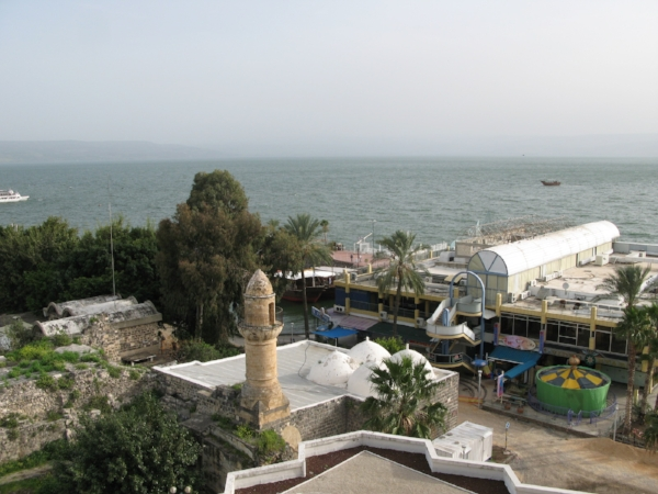 View from hotel Sea of Galilee