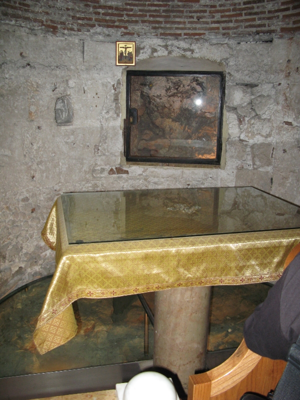Church of Holy Sepulcre rock of Golgotha
