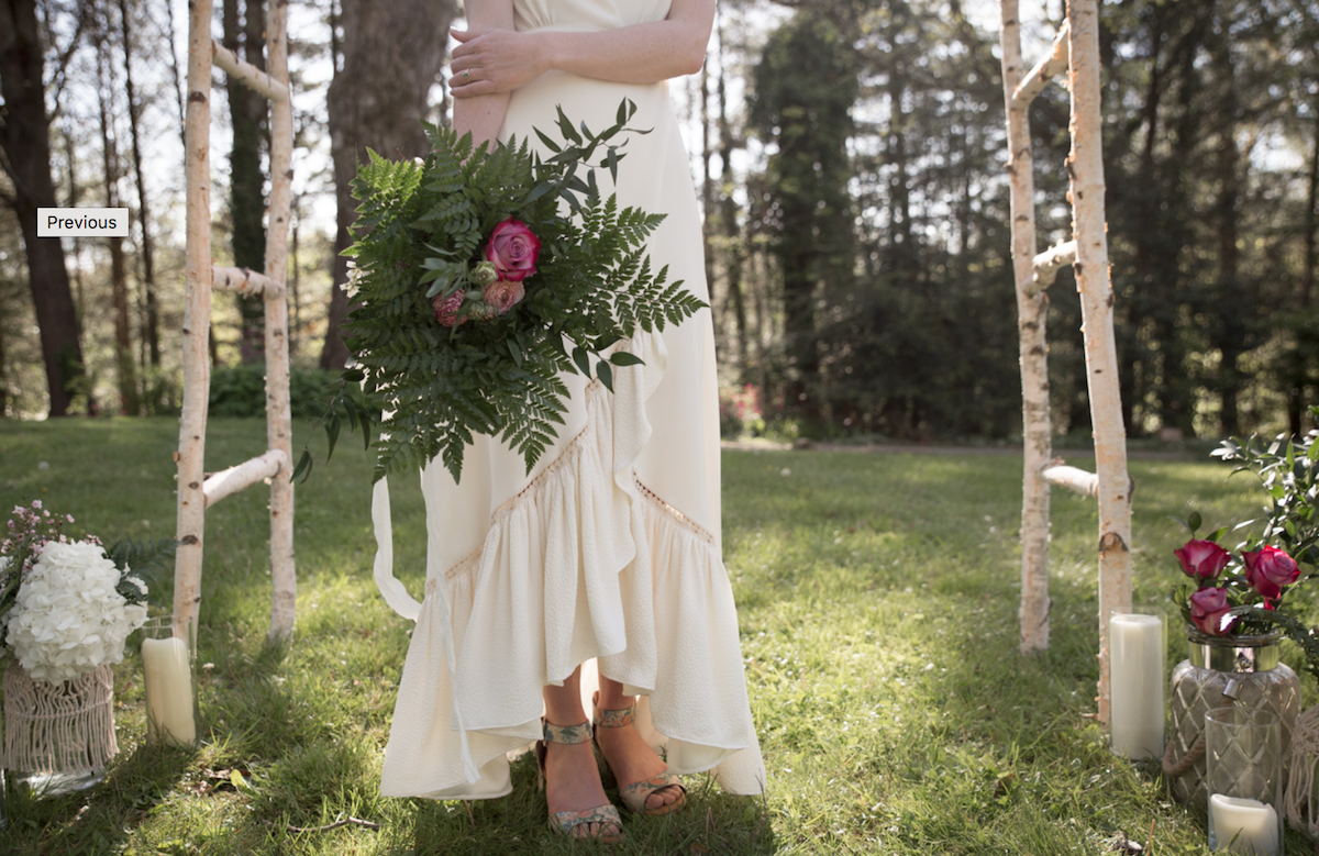 Sugarcane Studios - Bespoke silk wedding gown made in Asheville, NC.