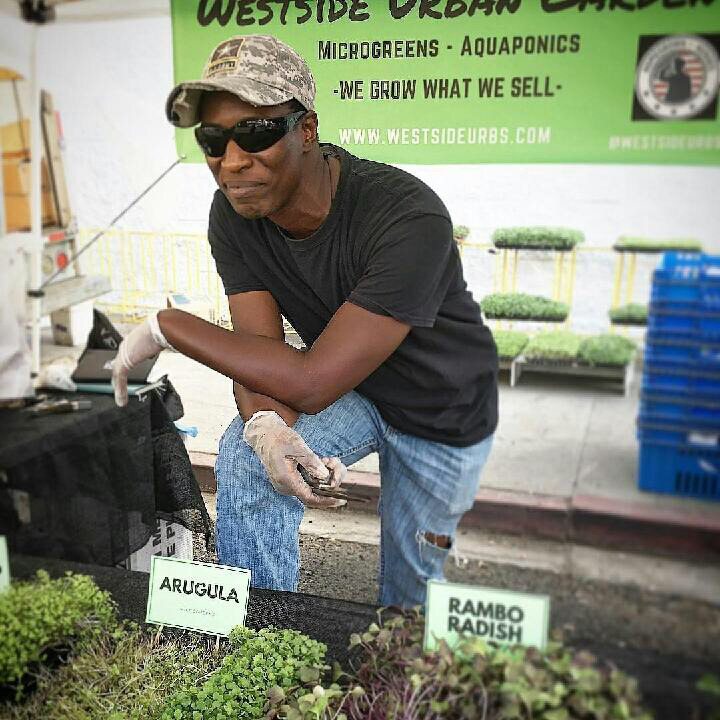 Nate Looney, Westside Urban Gardens: The Aquaponics Expert   Nate Looney is the founder of  Westside Urban Gardens , a veteran owned and operated micro green farm. He originally got the idea for West Urban Gardens when he was a junior studying business at the American Jewish University.  Soon after graduating from AJU, Looney started growing microgreens, eventually completing a microgreens, eventually completing a three month internship at Ouroboros Aquaponics Farms. This began the cultivation of the deep seeded knowledge in aquaponics he shares today. Drawing inspiration from his religious beliefs, Looney is known for his rooted commitment to the social mission of urban agriculture.