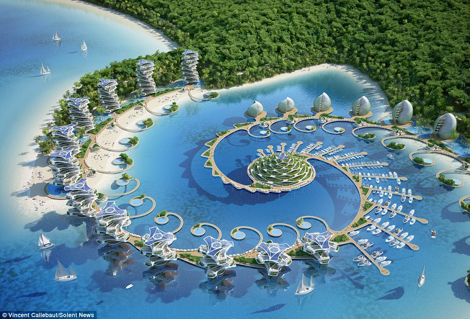 Incredible:The Nautilus Eco-Resort follows the Fibonacci sequence, used by architects as the ideal good design formula
