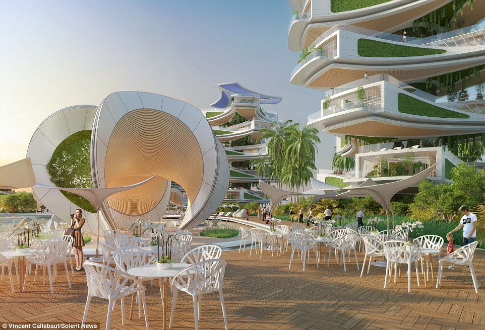 Conscience: The man behind it, Vincent Callebaut, 40, says his plans will help preserve the coastal area's environment