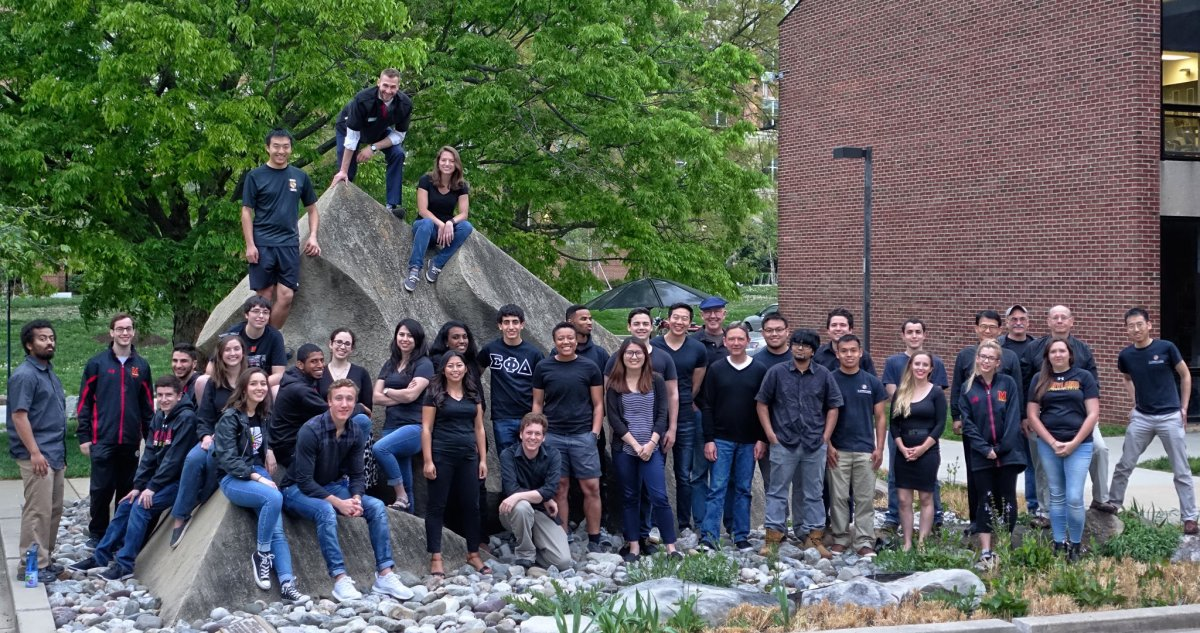 The University of Maryland students who designed the ReAct home. (University of Maryland/Department of Energy)