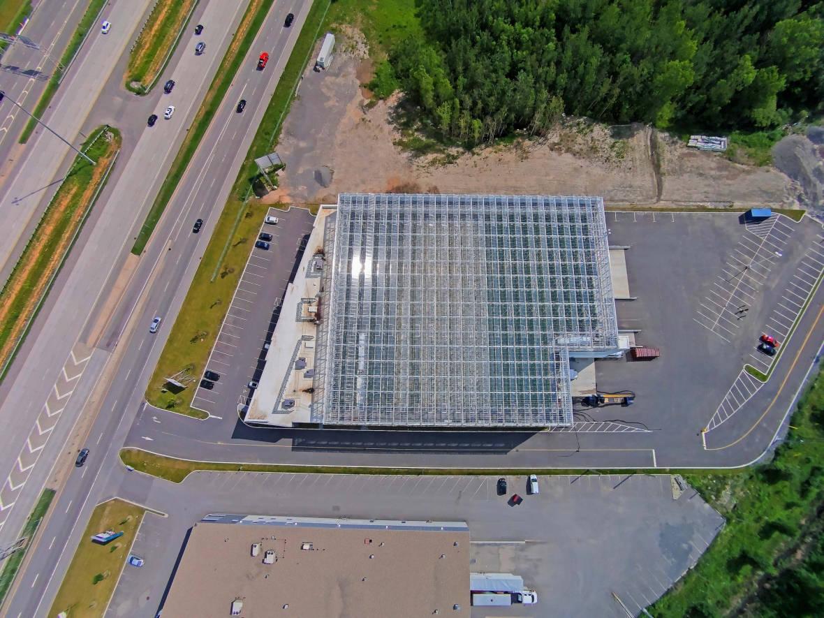 A Lufa Farms rooftop greenhouse in Canada.
