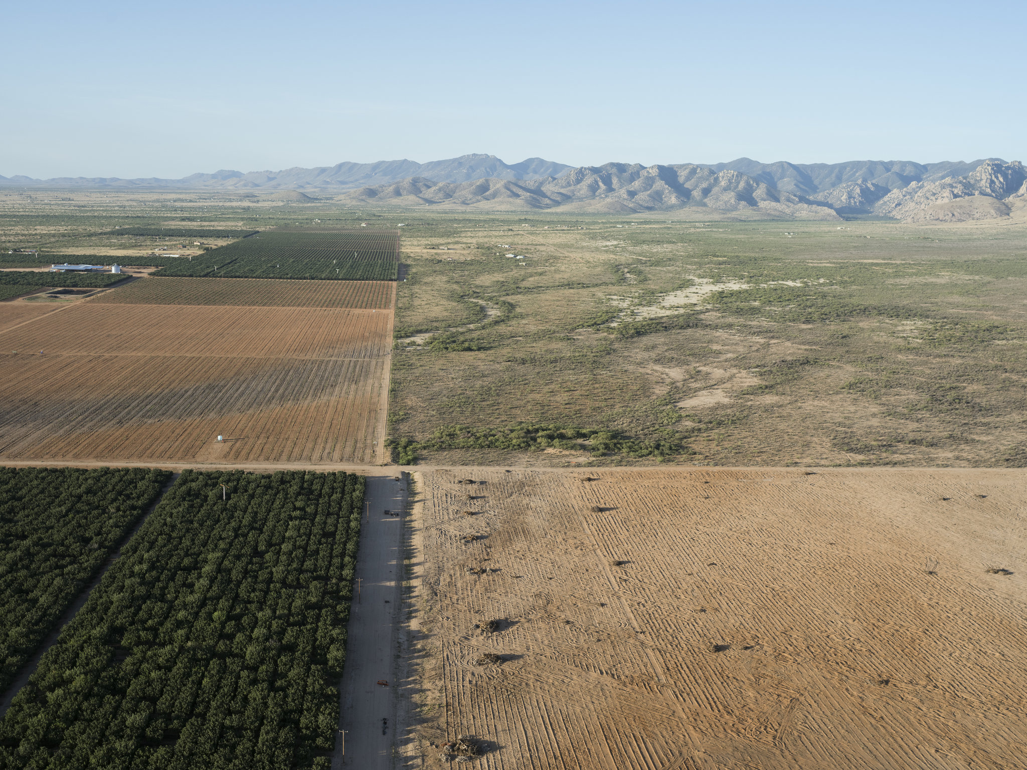 Farmland in the Sulphur Springs Valley of Arizona. (Credit: Lucas Foglia for The New York Times)