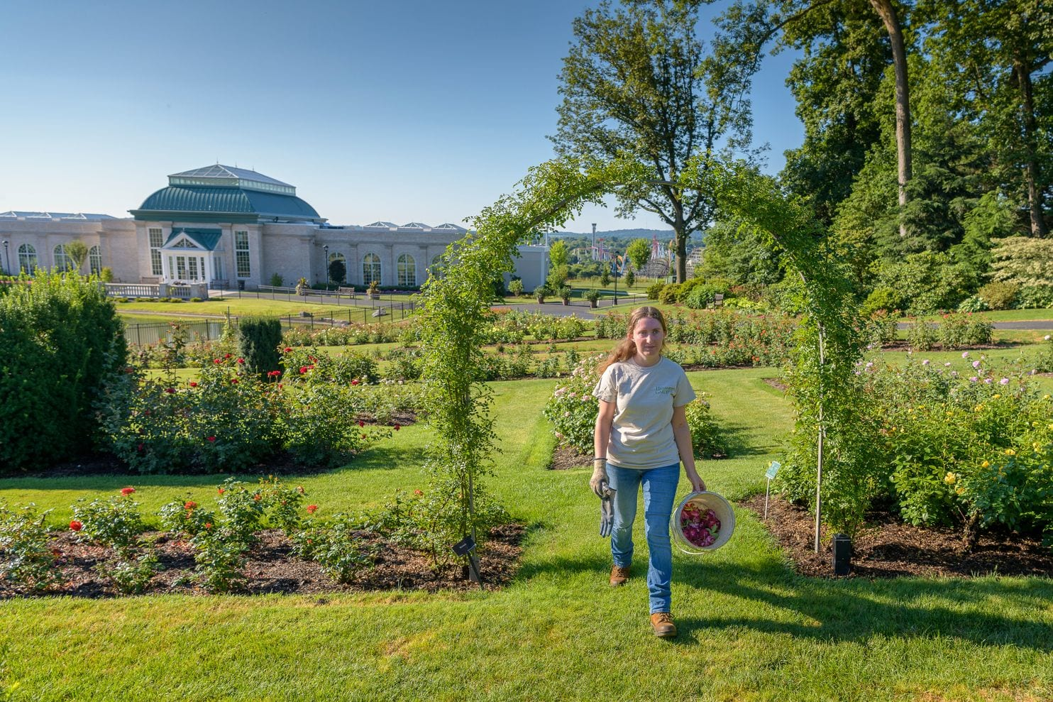 Palmer spends the summer before her last semester at Delaware Valley University, where she is pursuing a horticulture degree, toiling at Hershey Gardens. (Jim Graham/For The Washington Post)