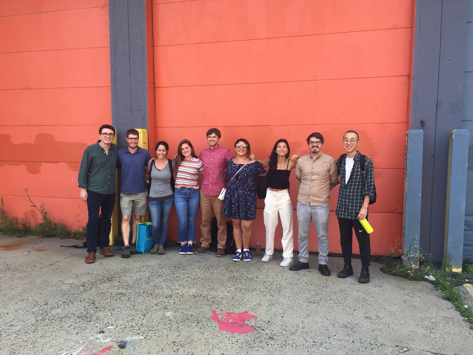 Photo (From left to right): Christian Kanlian '20, Jacob Mark Holley, Yolanda Gonzalez, Katherine Rogers '20, Sam Anderson, Maya Ezzeddine, Mason Leist '20, Wythe Marschall, Brian Byun '19