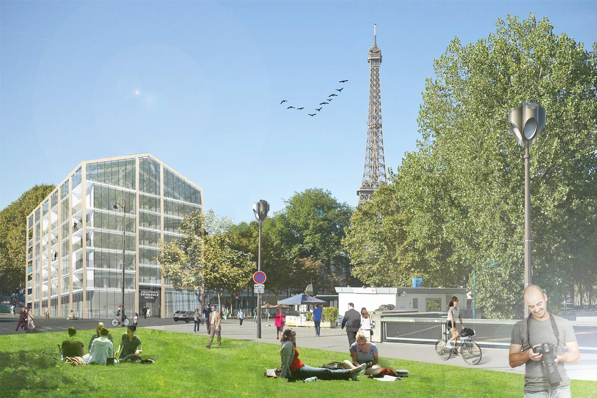 The architects' proposal calls for a modular design that could adapt to different skylines around the world. It could be a smaller building in Paris or a tall tower in New York, for example.