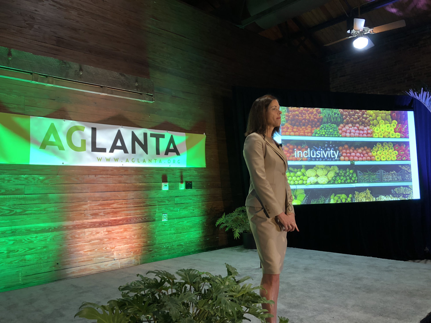 AgLanta Conference 2018 Keynote Speaker,  Vonnie Estes , discussed the role of technology in developing new crop varieties for the future, and the need for an inclusive conversation with consumers, producers, and plant scientists.