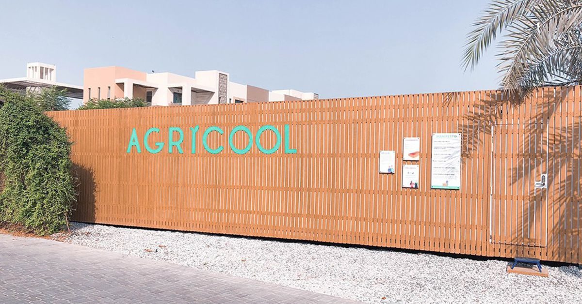 An  Agricool  Cooltainer in The Sustainable City, UAE.