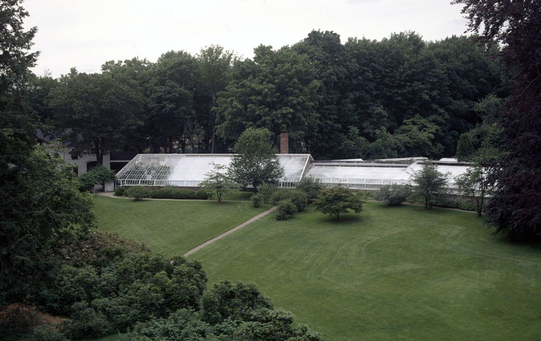 The  Lyman Estate Greenhouses —located in Waltham, Massachusetts—are among the oldest surviving greenhouses in the U.S. | Source:  Historic New England