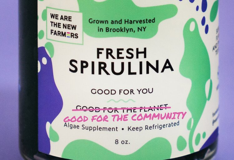 Image: We Are The New Farmers fresh Spirulina, courtesy of We Are The New Farmers