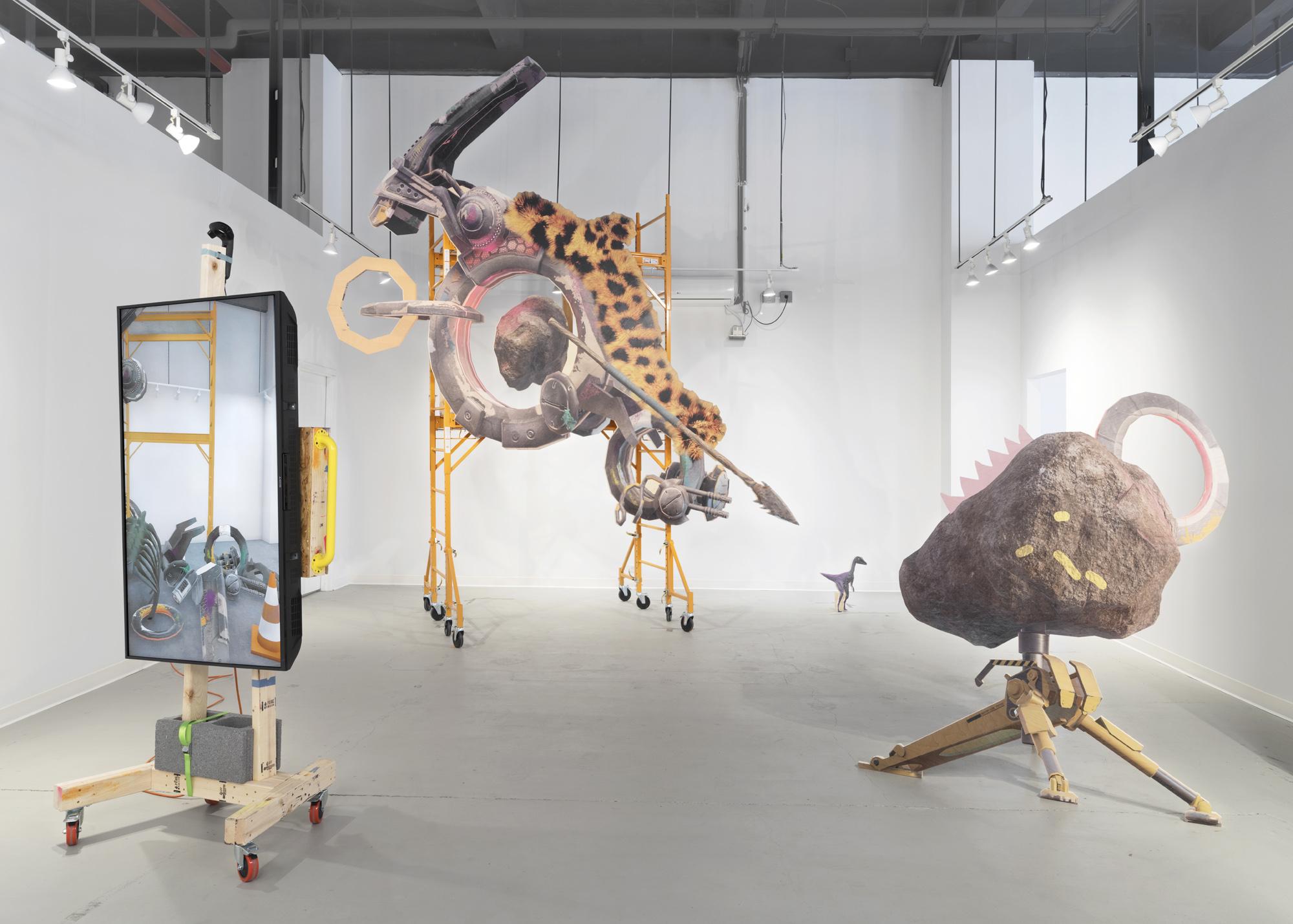 Theo Triantafyllidis,  Studio Visit , 2018, mixed reality installation