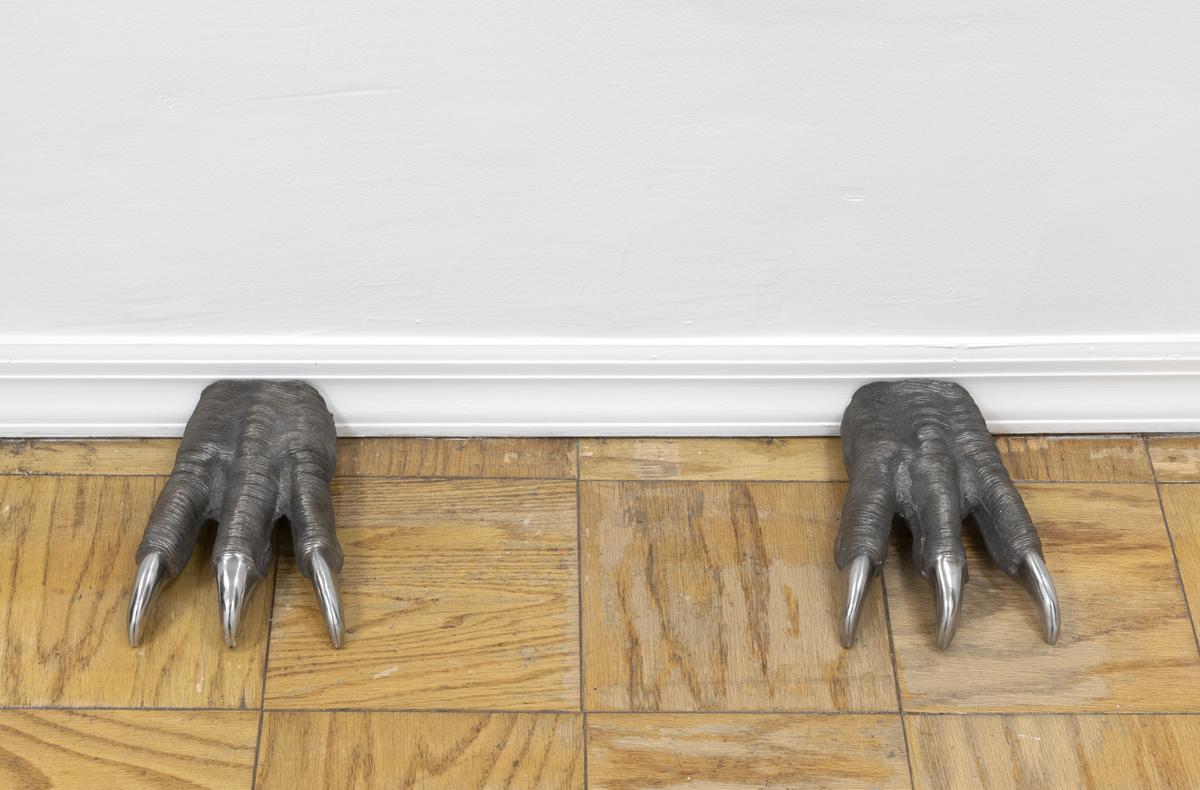 John Drue S. Worrell,  Framer-Guillotine , 2019 cast iron, 9 x 6.5 inches