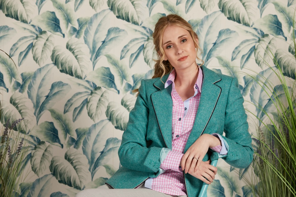 Try our blazers: 100% wool and tailored for taller women
