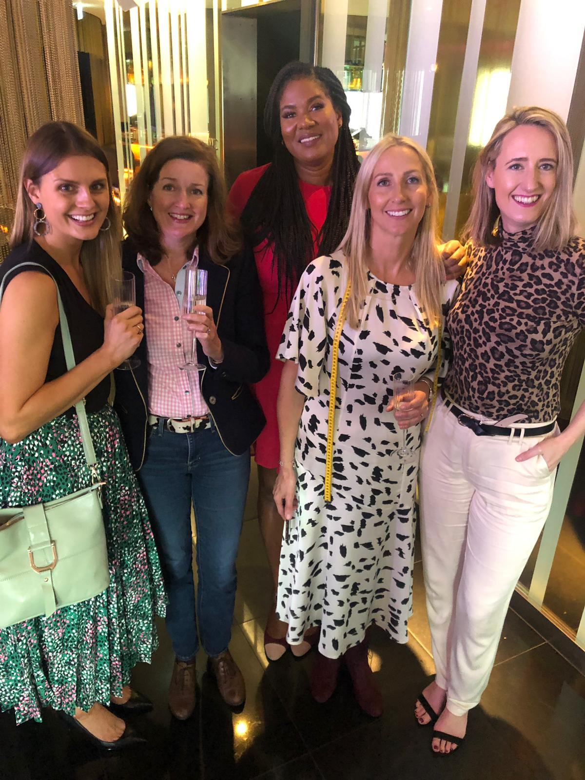 From l to r: Laura Schofield of All the Tall Things blog and Otto + Ivy shoes, Emma Stewart from Allta, Bree Wijnaar the Tall Society organizer, Joanna Scott from Low Heels and Natalie Matthews from Height of Fashion