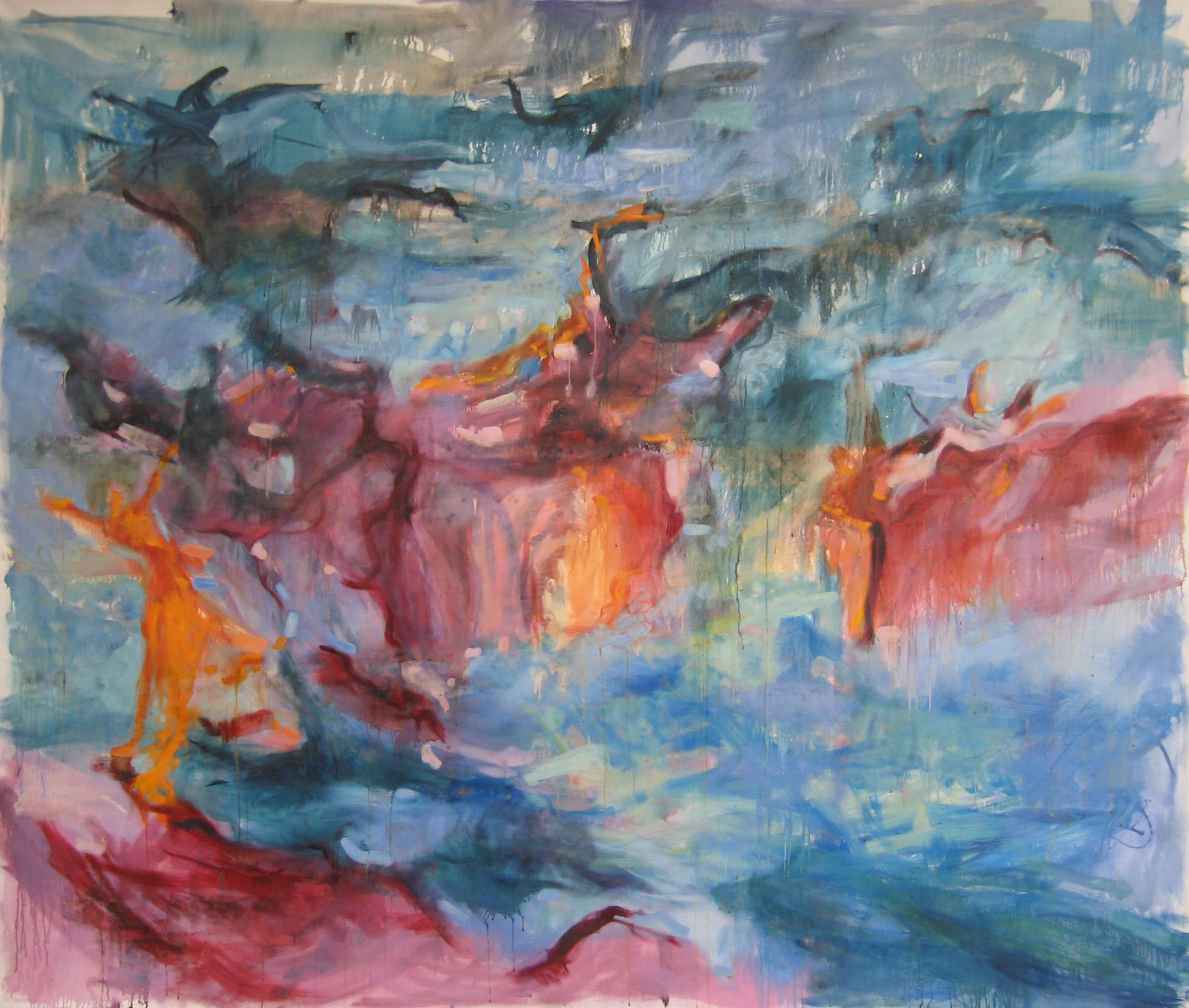 Sacred Dance, 96%22 X 96%22, oil on canvas, 2006.JPG