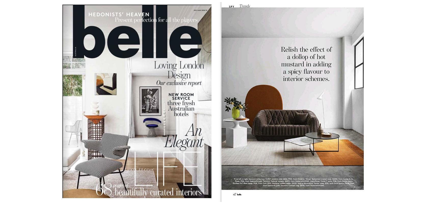 Belle Magazine (AU), Dec/Jan 2018/2019