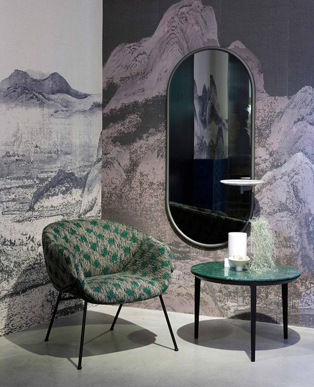 Our Anita armchair, Michelle wall mirror and Etoile table showcased in our #mdw19 exhibit in a selection of our new materials including the Sydney fabric collection and the Verde Guatemala marble. ⁣ ⁣.⁣ .⁣ .⁣ #sp01xmilan⁣ #milandesignweek2019⁣ #mdw19⁣ #design #interiordesign #contemporarydesign #australiandesign ⁣⁣