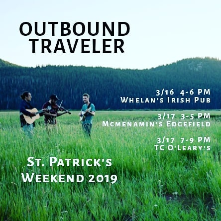 It's that time of the year again when we dig out the traditional Irish tunes and mix em in with our high flyin' banjo and fiddle songs. Performances at @whelanspdx @edgefieldconcerts and @tcolearys will make this a weekend to remember.  #stpatricksday #tradirish #tradtown #tcolearys #pdx #pdxmusicscene