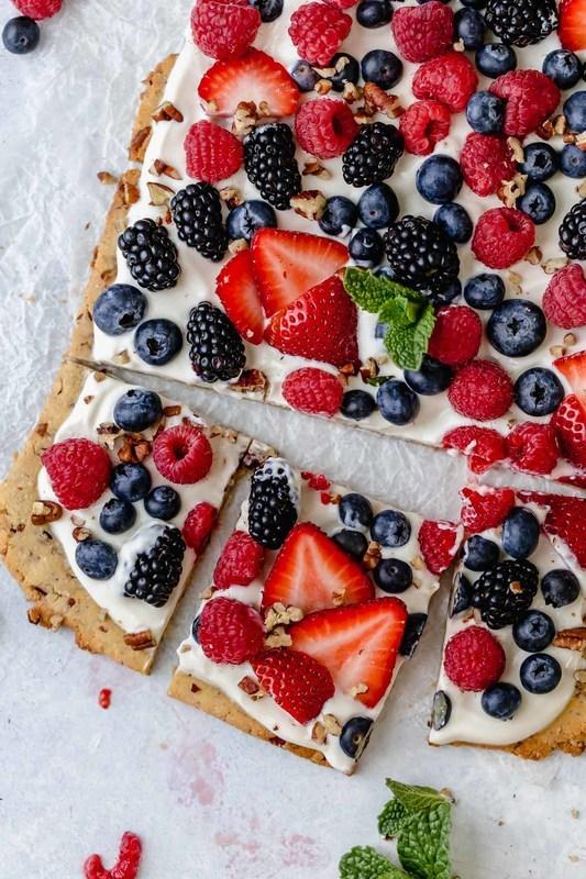 Gluten-Free Berry Fruit Pizza