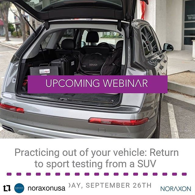 #Repost @noraxonusa • • • • • • Dr. Cassie Butts (@3planesmovement) uses her mobile technology to serve the athletes of Southern California. Join us for our next webinar where she will discuss the testing she does when working with an athlete to return to sport from an ACL repair. Registration link in profile. - - #myomotion #rehab #movementanalysis #noraxon