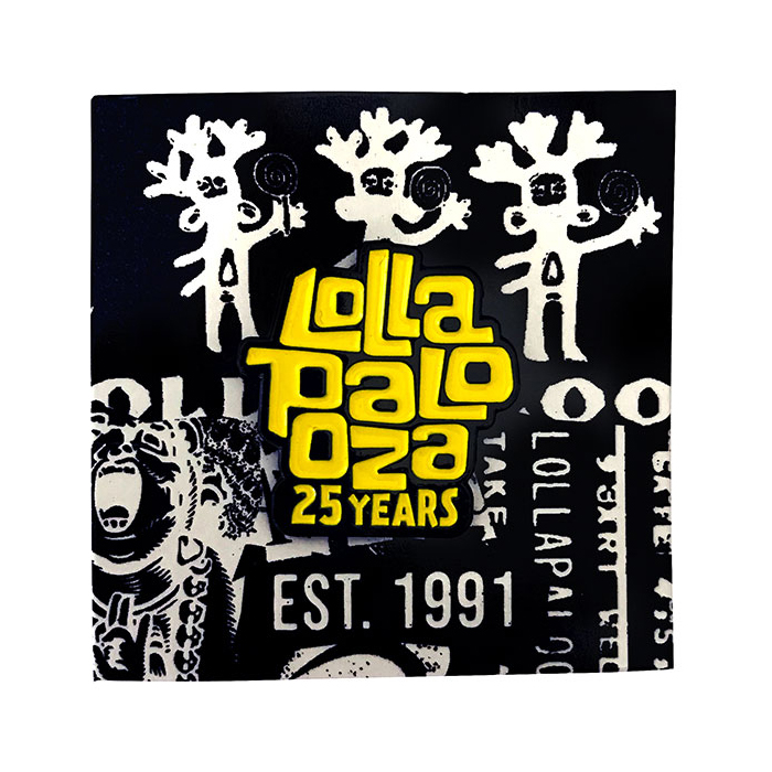 lolla 25  enamel pin