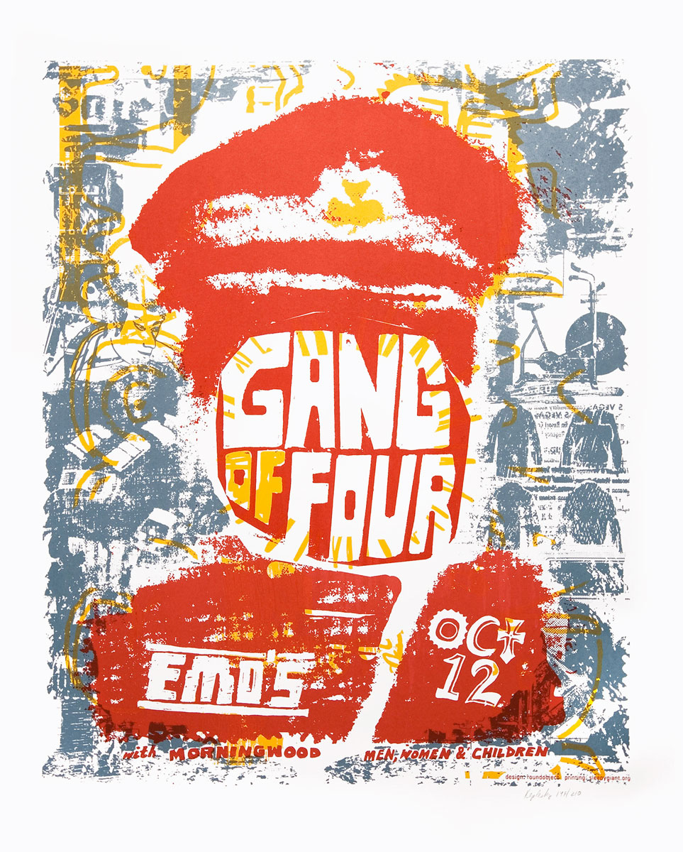 Gang of four  screenprinted gigposter
