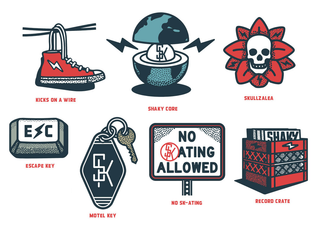 shaky knees flash  illustrations