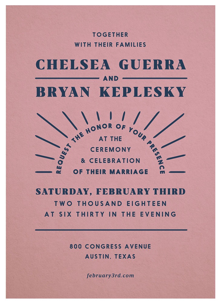 Chelsea & Bryan  wedding invite