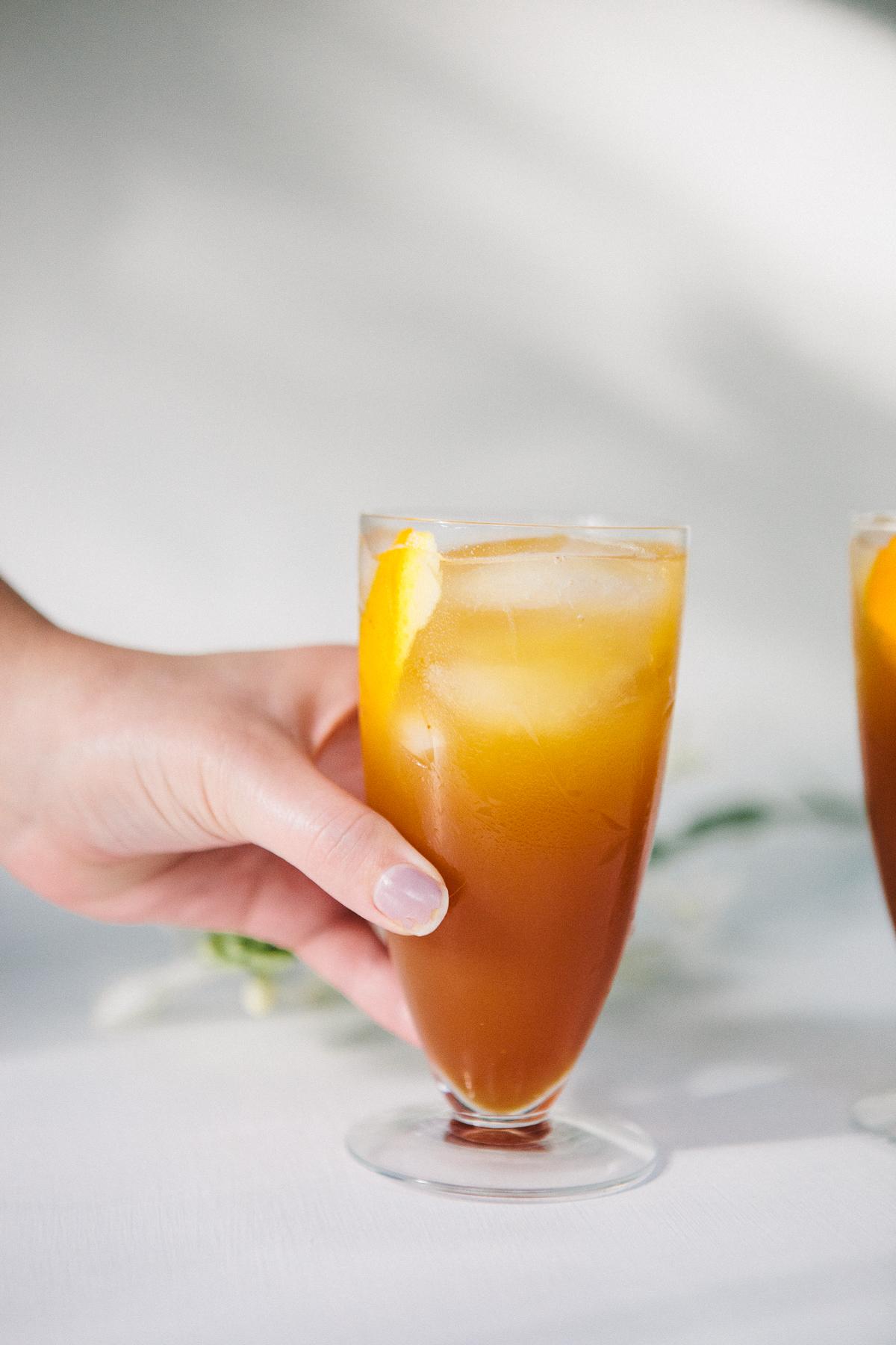 Fresh Fall Drink - Spicy, orangey, spritzy &alcohol free