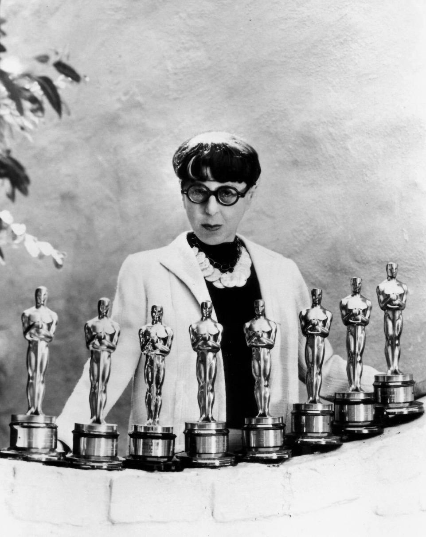 Edith Head with her Oscars
