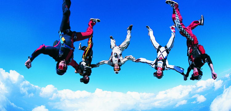 You can do a special activity with just the VIPs and the groom. For this it's okay to do something extra special - skydiving, anyone?