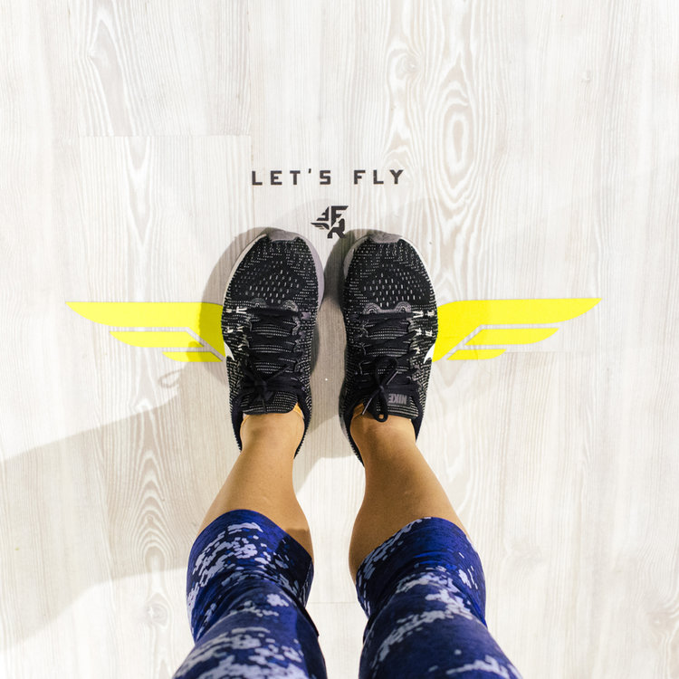 Fly Feet Running - Space Design - by Kayd Roy
