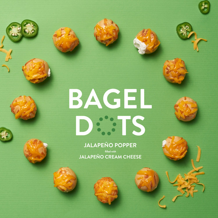 Bagel Dots packaging design by Kayd Roy
