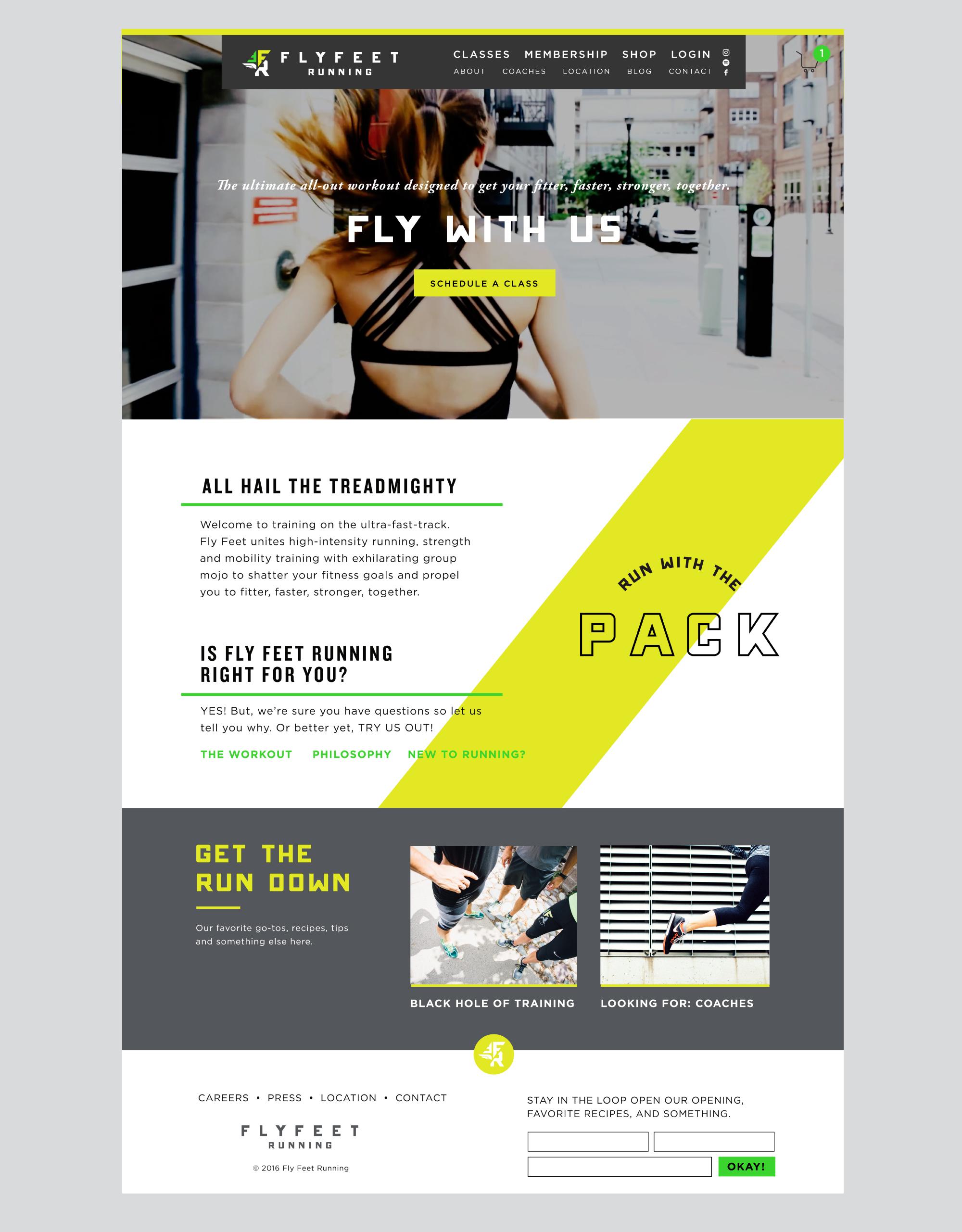 Fly Feet Running - Website Design by Kayd Roy