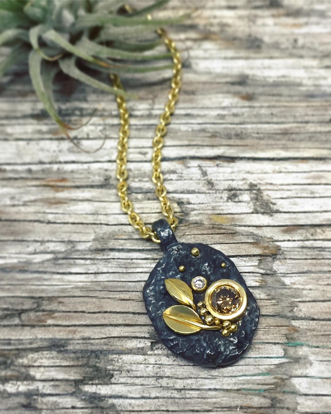 verena-strigler-champagne-diamond-18k-yellow-gold-leaf-pendant-black-sterling-silver-vancouver.jpg