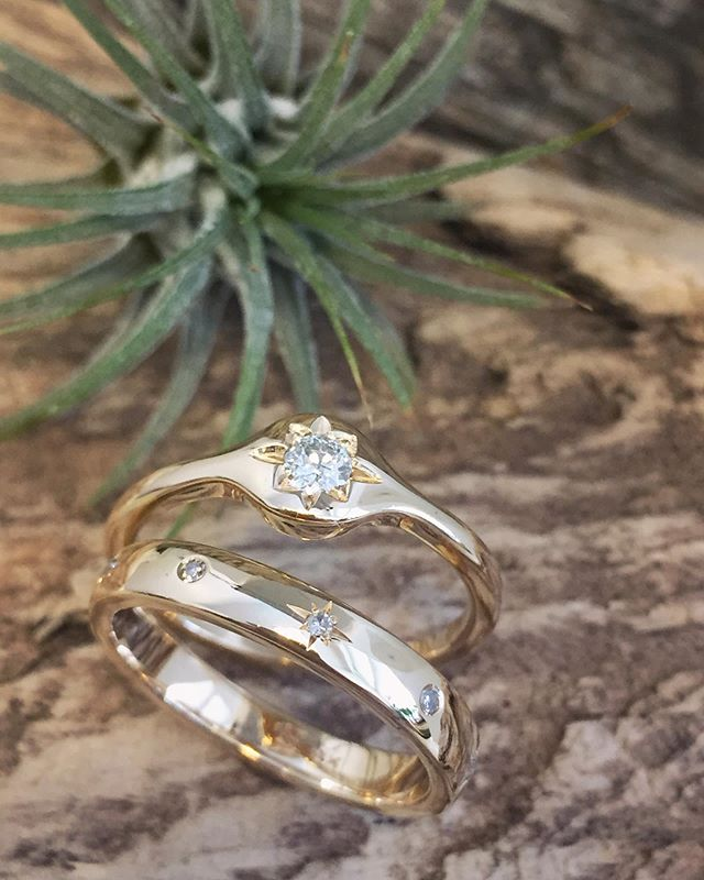 "~ The Moon and the Stars ~  Another way of repurposing a client's old diamonds and gold.  14k yellow gold with diamonds set as ""full moons"" and ""shining stars"". The perfect little stack ✨ . . . #verenastriglerjewelry #goldsmith #finejewelry #finejewellery #customdesign #customjewelry #customjewelrydesign #reuseandrepurpose #recycledgold #madetoorder #oneofakind #oneofakindjewelry #moonandstars #stars #diamonds #diamondring #ringstack #stackingrings #gold #madeinvancouver #canadianmade #madebyhand #vancouver #vancity #vancitybuzz #yvr #shoplocal #smallbusiness #shinebrightlikeadiamond"