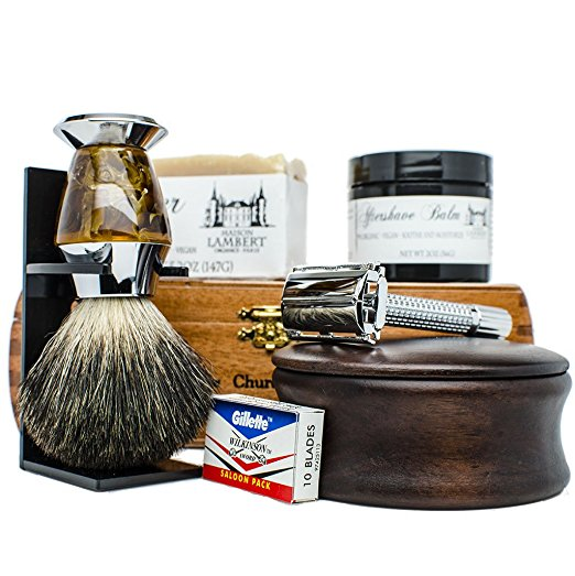 Luxurious ingredients and hypoallergenic, this set includes everything you need for your most perfect shave. - $$