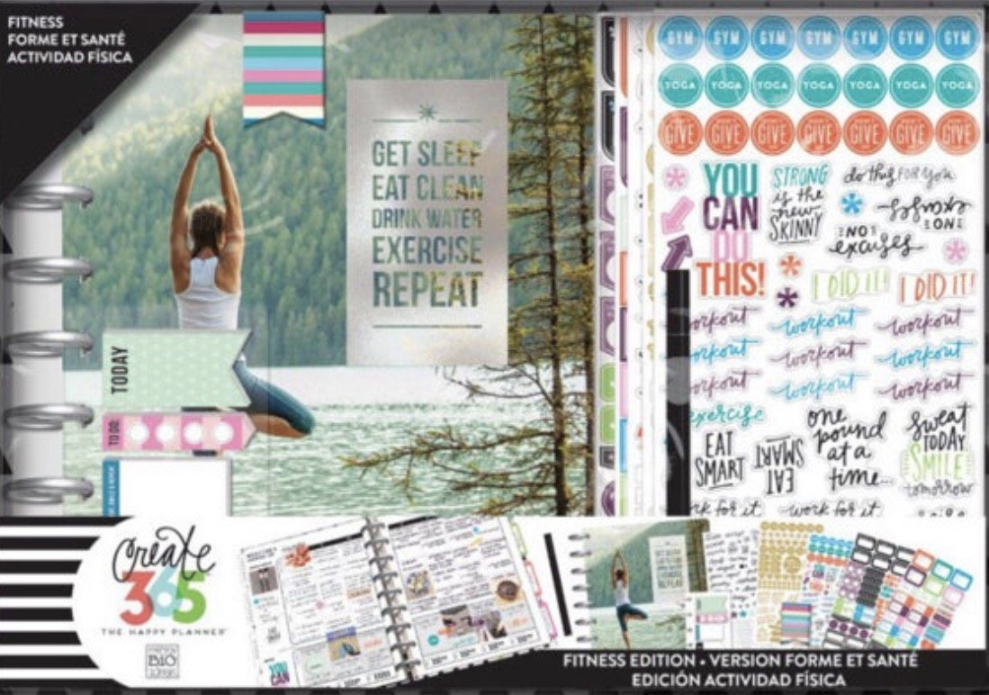 Bright colors, beautiful photographs and inspirational sayings - along with pages to track your weekly exercise, food, and water - fill this 12-month calendar. - $