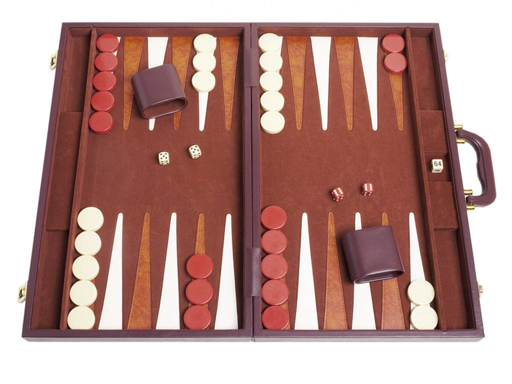 This beautiful backgammon set is great for travel, tournaments and old-fashioned family fun! - $$