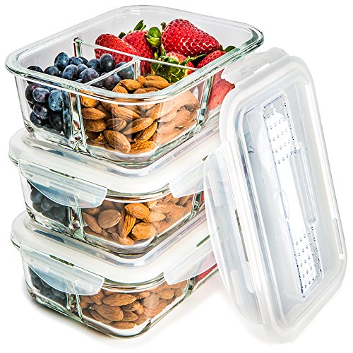 These portioned food containers are dishwasher and freezer safe, making cleanup and meal prep a breeze! Perfect for when you're on the go! - $