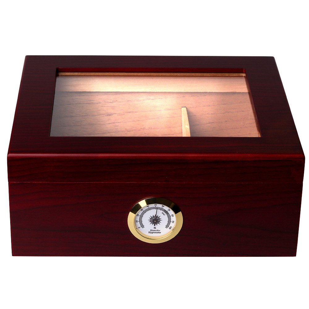 With an elegant Rosewood Finish, a Spanish Cedar Interior and a scratch resistant felt lined bottom, this is truly a work of art. - $