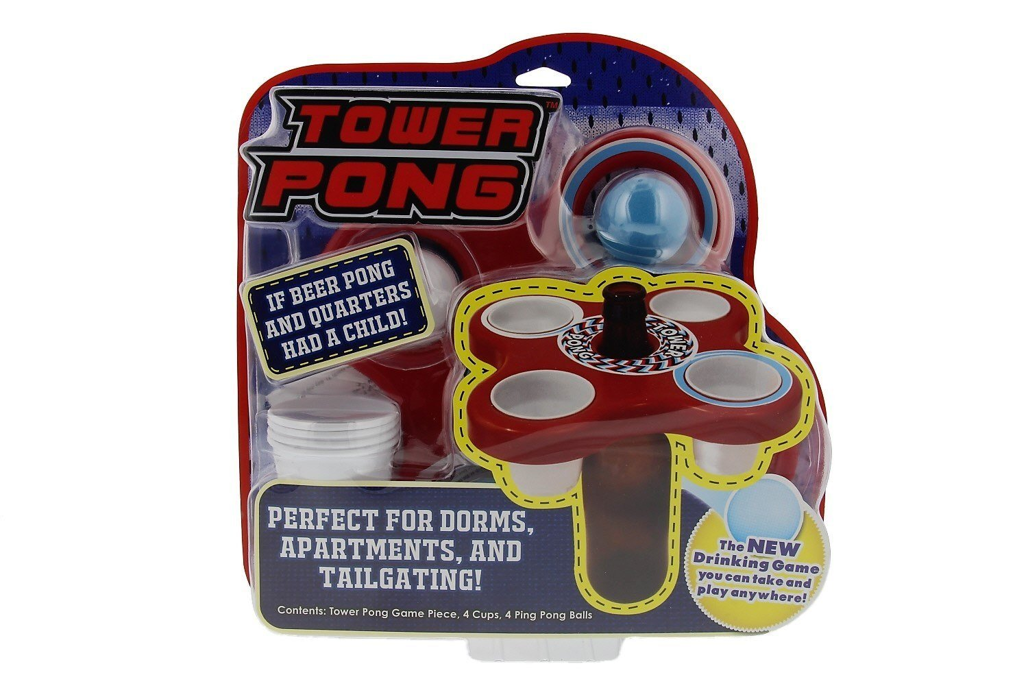 If Beer Pong and Quarters had a child, it'd be named Tower Pong. - $
