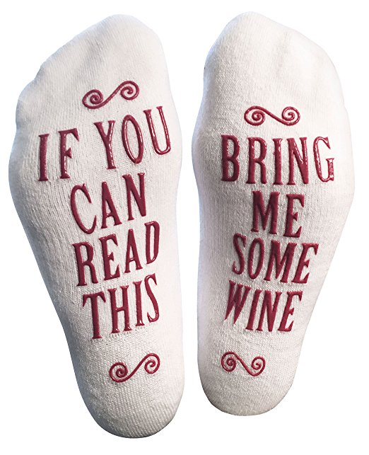 Make it a rule that these socks always receive a wine delivery! - $