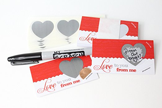 Personalize your own love scratch offs! - $